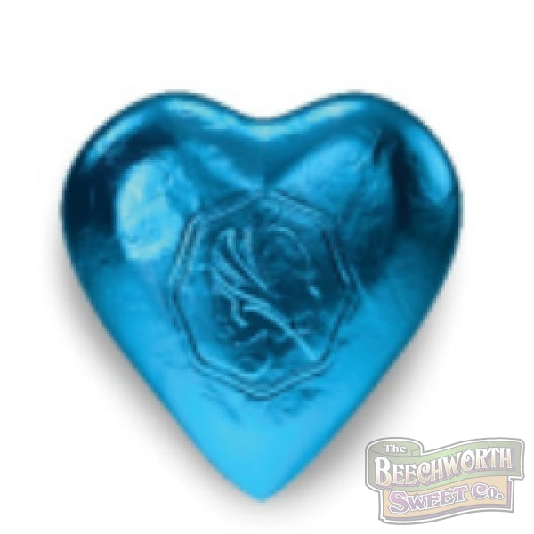 Chocolate Hearts Aqua Blue Specialty