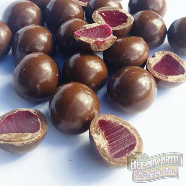 Dark Chocolate Coated Raspberry Jellies Chocolates