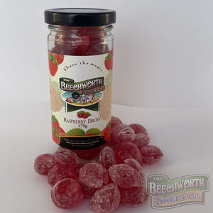 Old Fashioned Raspberry Drops Jar Lolly Jars
