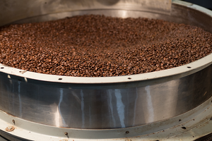Pierce Brothers Coffee bed of air roasted coffee beans sivets air roasting coffee, coffee in greenfield massachusetts