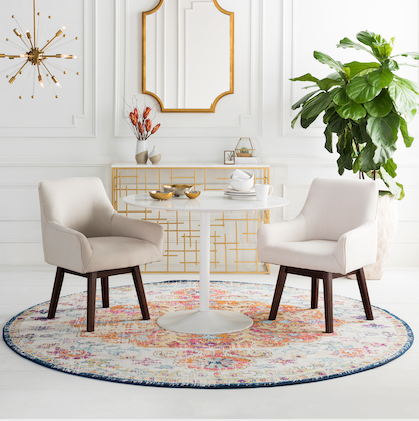 How to Pick an Area Rug Size for Your Dining Room
