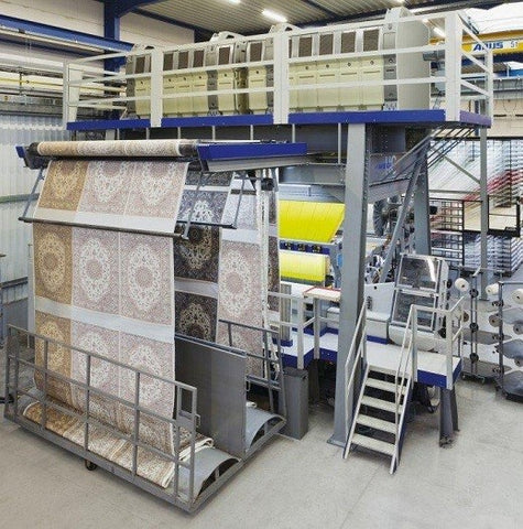 area rug machine manufactering process