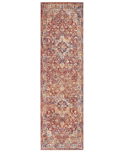 "Taza TAZ02 Heriz Red-Area Rugs-Kenneth Mink Home-2' 3"" x 7' 6""-The Rug Truck"