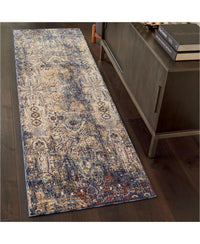 Taza TAZ01 Lavar Dark Blue-Area Rugs-Kenneth Mink Home-The Rug Truck
