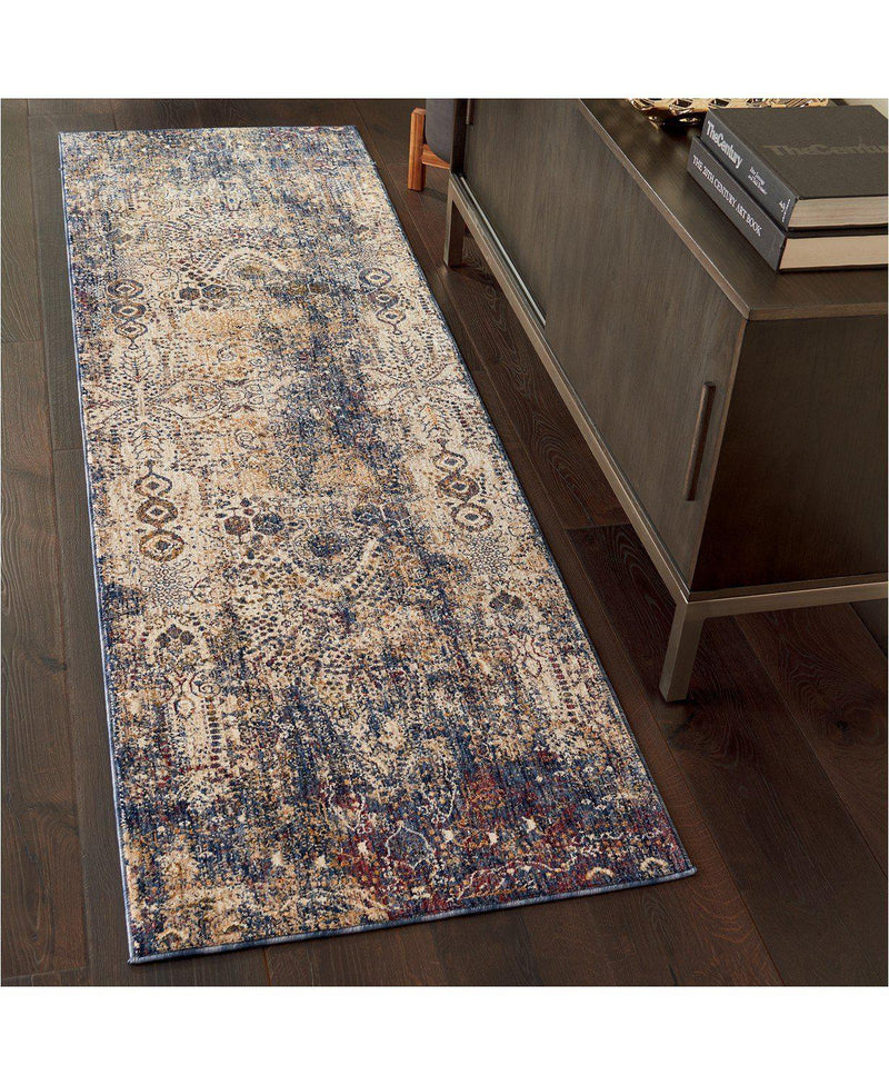 Taza TAZ01 Lavar Dark Blue-Area Rugs-Kenneth Mink Home-3' x 5'-The Rug Truck