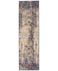 "Taza TAZ01 Lavar Dark Blue-Area Rugs-Kenneth Mink Home-2' 3"" x 7' 6""-The Rug Truck"