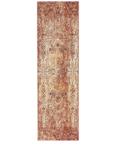 "Taza TAZ01 Lavar Red-Area Rugs-Kenneth Mink Home-2' 3"" x 7' 6""-The Rug Truck"