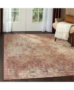 Taza TAZ01 Lavar Red-Area Rugs-Kenneth Mink Home-The Rug Truck