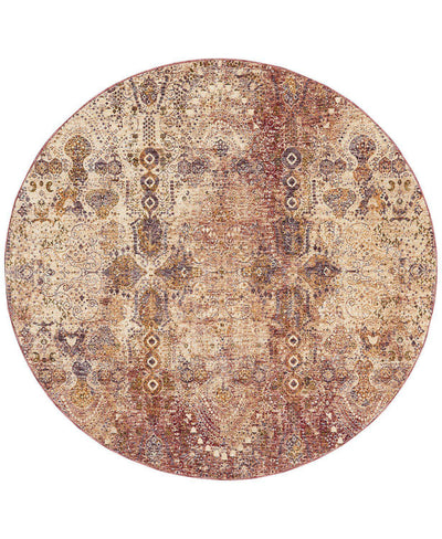 Taza TAZ01 Lavar Red-Area Rugs-Kenneth Mink Home-5' Round-The Rug Truck