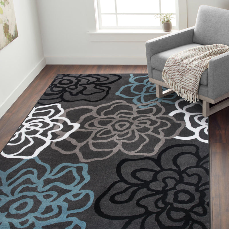 Alpine 108 Gray Area Rug-Area Rug-World Rug Gallery-2' x 3'-The Rug Truck