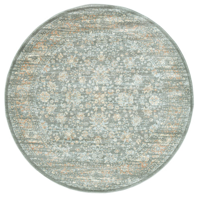 Francesca 501 Light Green Area Rug (5'3 Round)