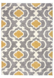 "Florida 2525 Yellow Area Rug-Area Rug-World Rug Gallery-3'3"" x 5'-The Rug Truck"