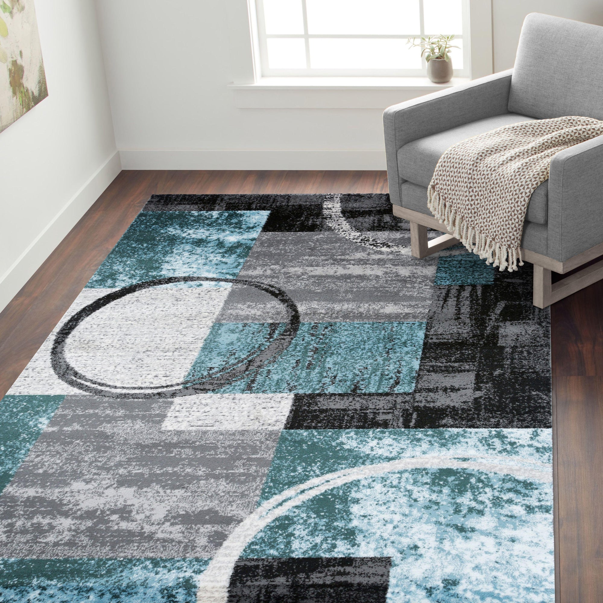 Toscana 307 Blue/Grey Area Rug-Area Rug-World Rug Gallery-2' x 3'-The Rug Truck