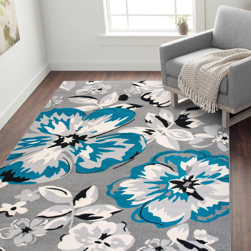 Newport 9098 Blue Area Rug 31 X 5