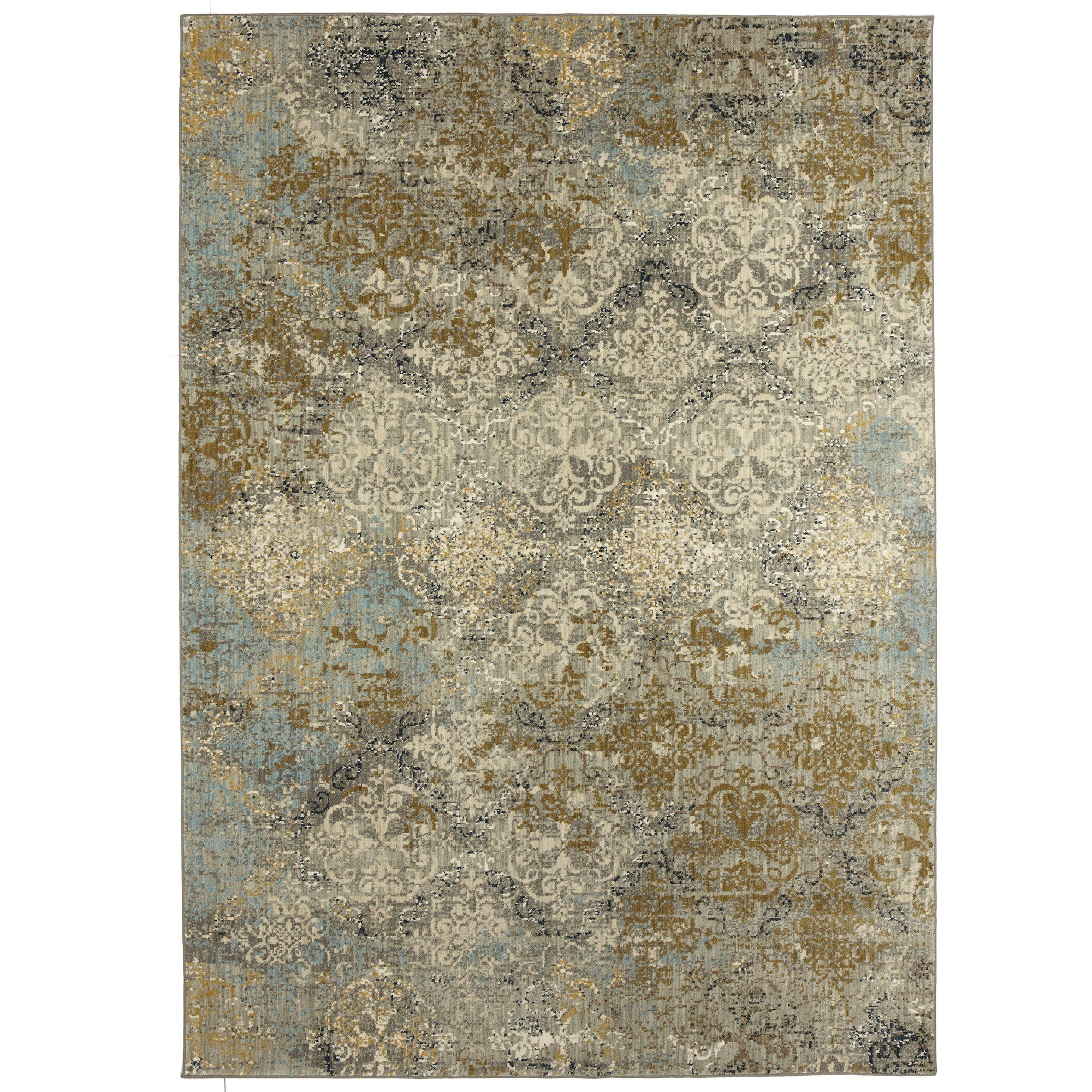 "Karastan Touchstone Moy Willow Grey-Area Rug-Karastan-3' 6""x5' 6""-The Rug Truck"