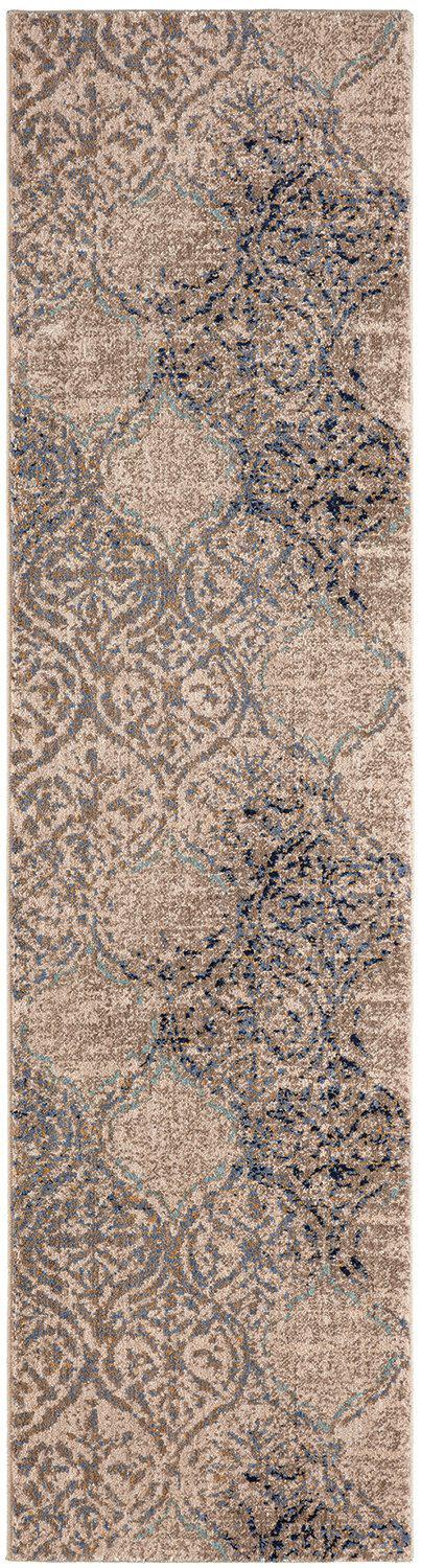 "Karastan Cosmopolitan Zendaya Indigo by Virginia Langley-Area Rug-Karastan-5' 3""x7' 10""-The Rug Truck"