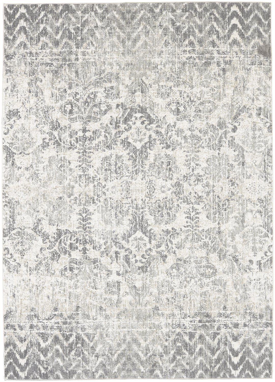 "Karastan Touchstone Le Jardin Willow Gray by Patina Vie-Area Rug-Karastan-3' 6""x5' 6""-The Rug Truck"