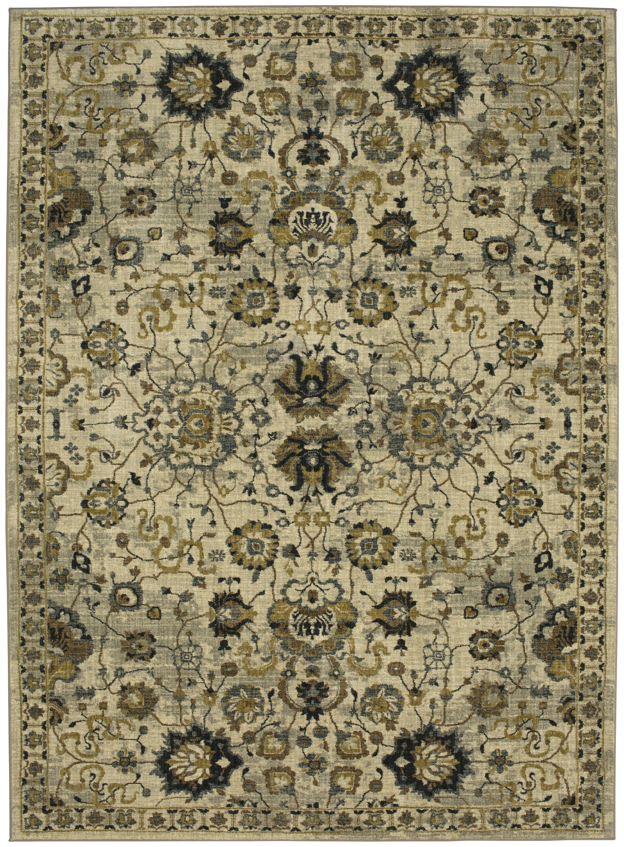 "Karastan Touchstone Deveron Willow Grey-Area Rug-Karastan-3' 6""x5' 6""-The Rug Truck"