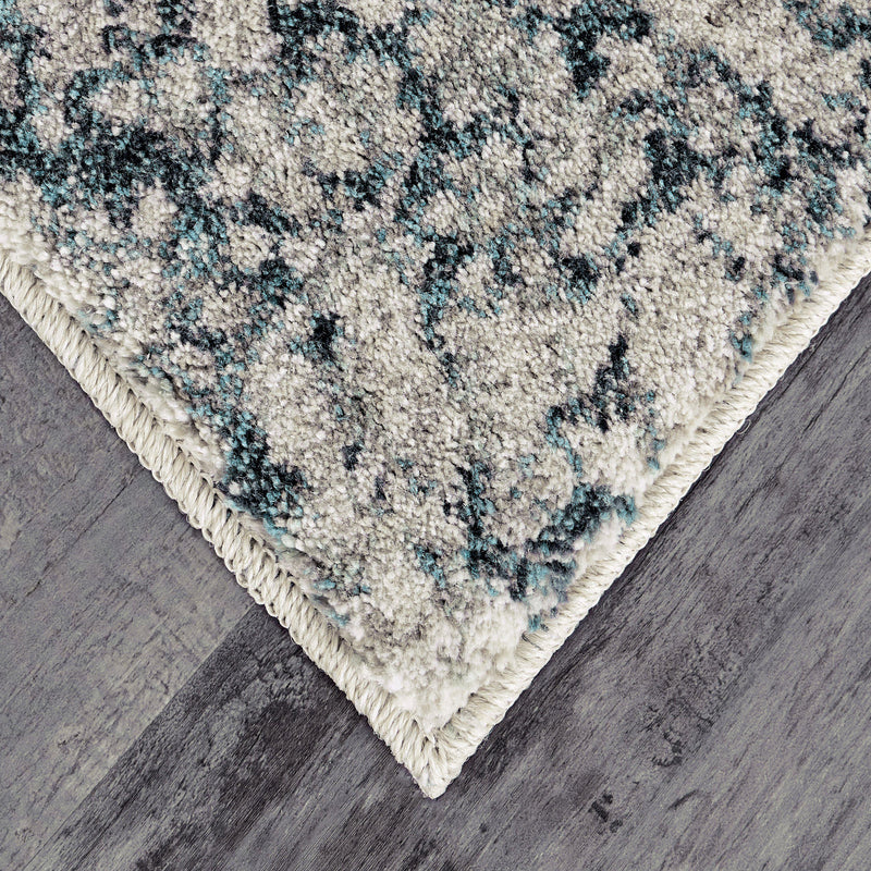 Expressions Imprinted Blooms Aqua by Scott Living Area Rug-Area Rug-Scott Living-2'x3'-The Rug Truck