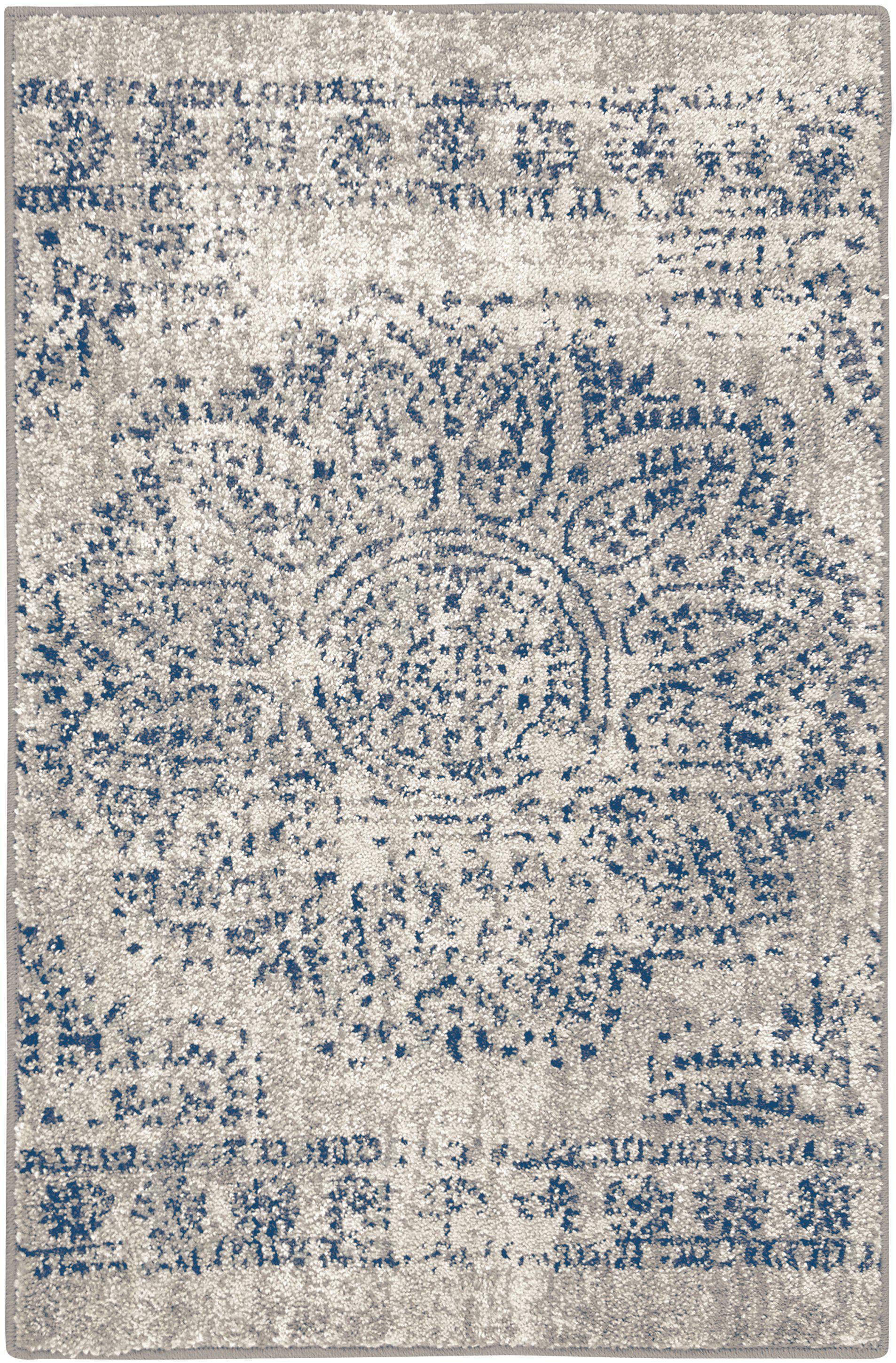 Expressions Dharma Medallion Indigo by Scott Living Area Rug-Area Rug-Scott Living-2'x3'-The Rug Truck