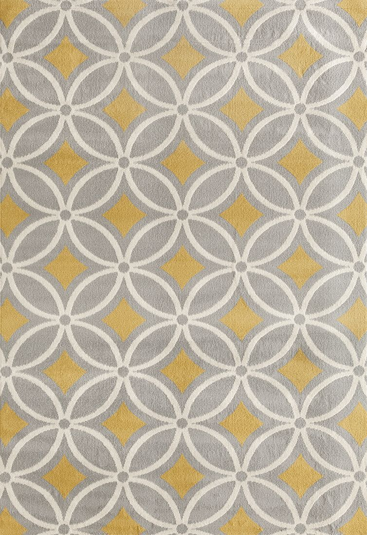 Newport 9104 Gray/yellow Area Rug 5 X 7