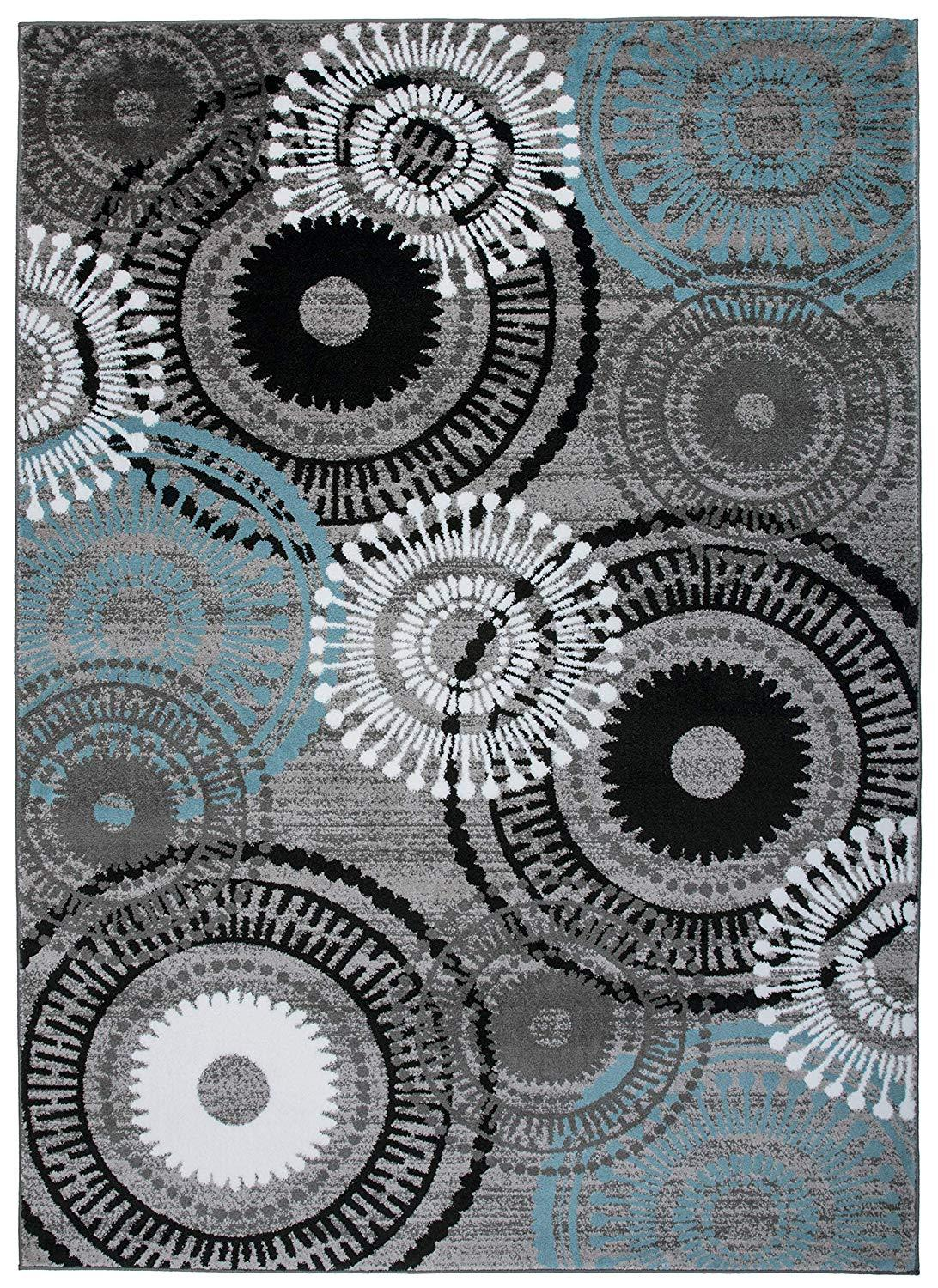 Alpine 119 Blue/Grey Area Rug-Area Rug-World Rug Gallery-2' x 3'-The Rug Truck