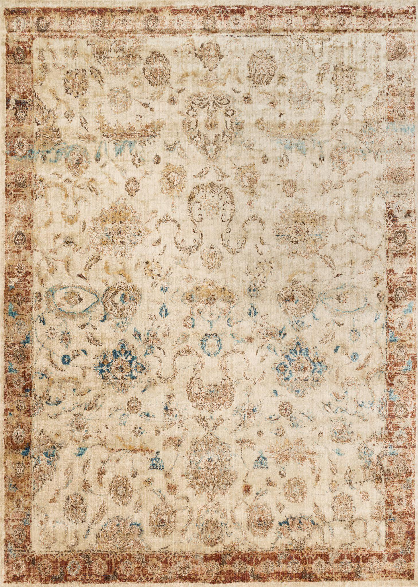"Anastasia AF-04 Ant Ivory / Rust-Area Rug-Loloi-2'-7"" X 4'-The Rug Truck"