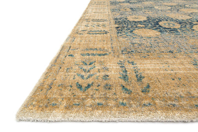 Anastasia AF-09 Blue / Gold-Area Rug-Loloi-The Rug Truck