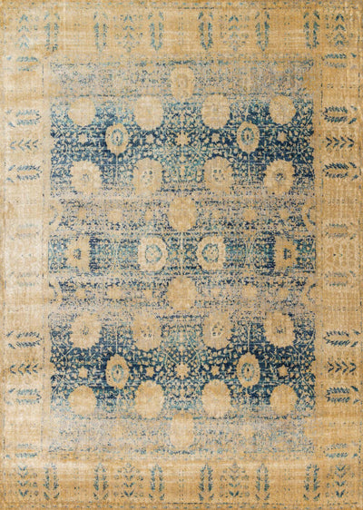 "Anastasia AF-09 Blue / Gold-Area Rug-Loloi-2'-7"" X 4'-The Rug Truck"
