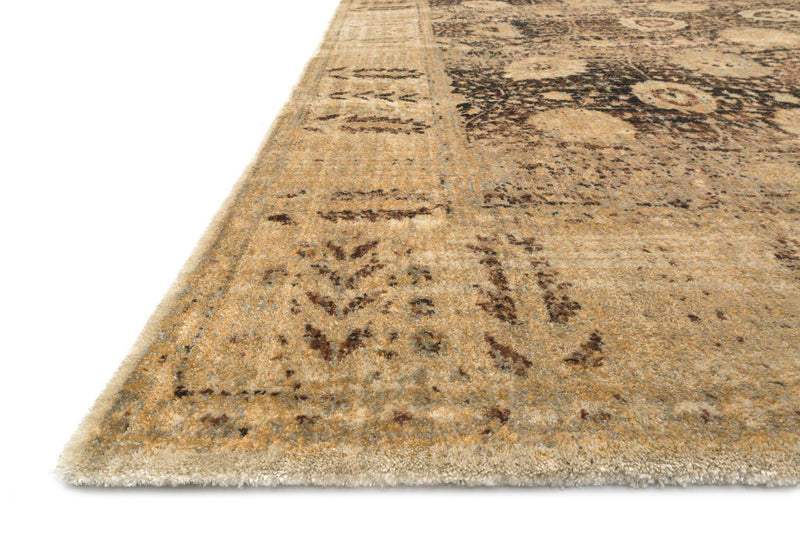 "Anastasia AF-09 Coffee / Gold-Area Rug-Loloi-2'-7"" X 4'-The Rug Truck"