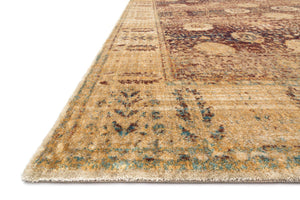 Anastasia AF-09 Red / Gold-Area Rug-Loloi-The Rug Truck