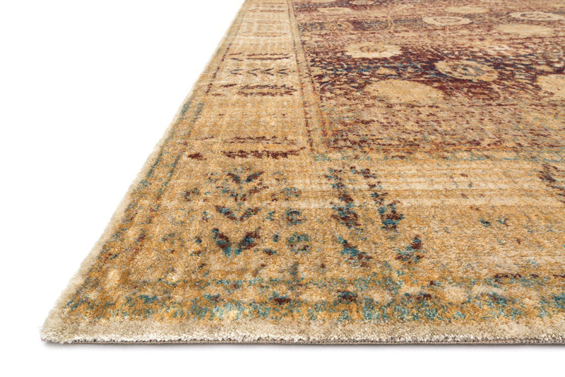 "Anastasia AF-09 Red / Gold-Area Rug-Loloi-2'-7"" X 4'-The Rug Truck"