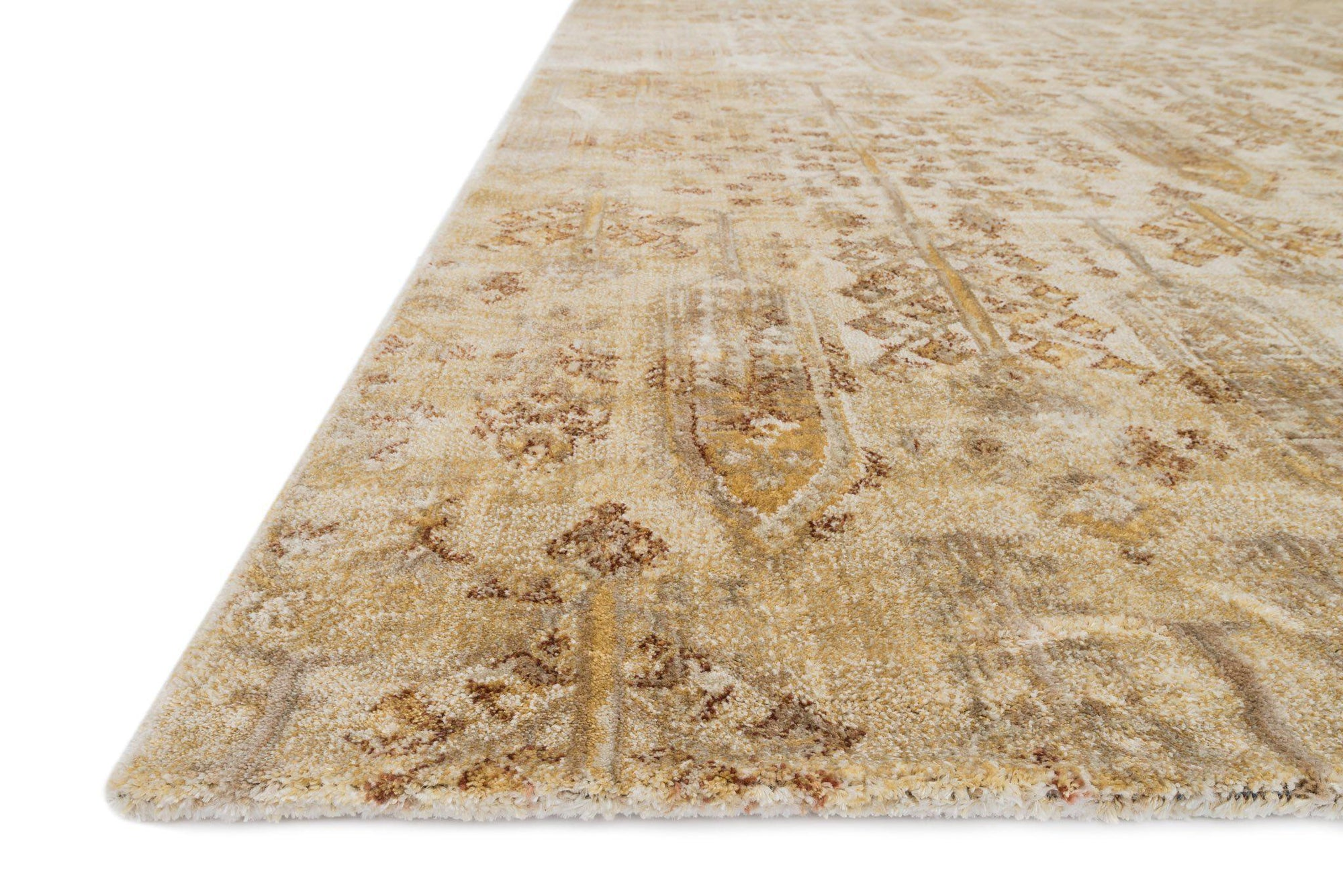 "Anastasia AF-11 Ant Ivory / Gold-Area Rug-Loloi-2'-7"" X 4'-The Rug Truck"