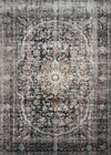 "Anastasia AF-24 Charcoal / Sunset-Area Rug-Loloi-2'-7"" X 4'-The Rug Truck"
