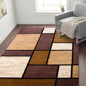 Alpine 106 Brown Area Rug-Area Rug-World Rug Gallery-The Rug Truck