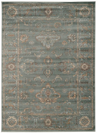 Allora 3562 Green Area Rug (7'10 x 10'6)