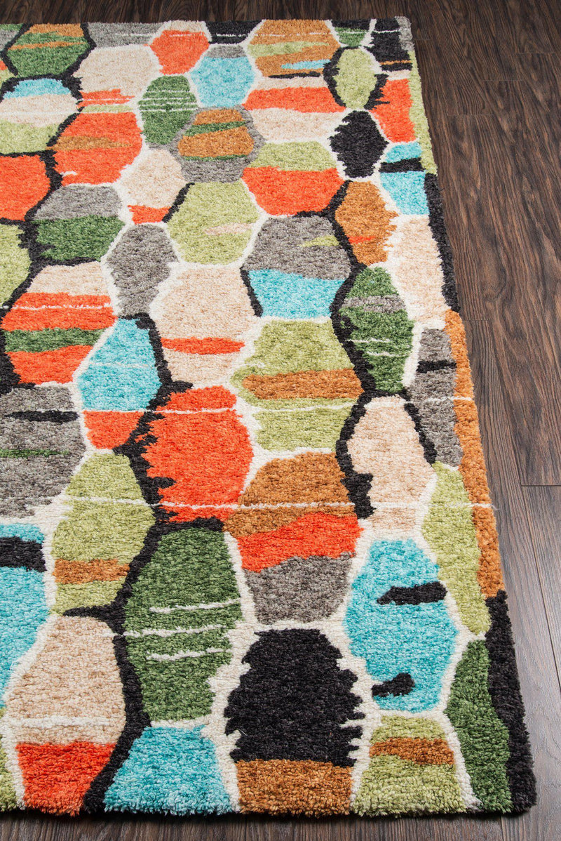 "Novogratz by Momeni Bungalow BUN-3 Tiles Multi Area Rug-Area Rug-Momeni-2'3"" X 8' Runner-The Rug Truck"