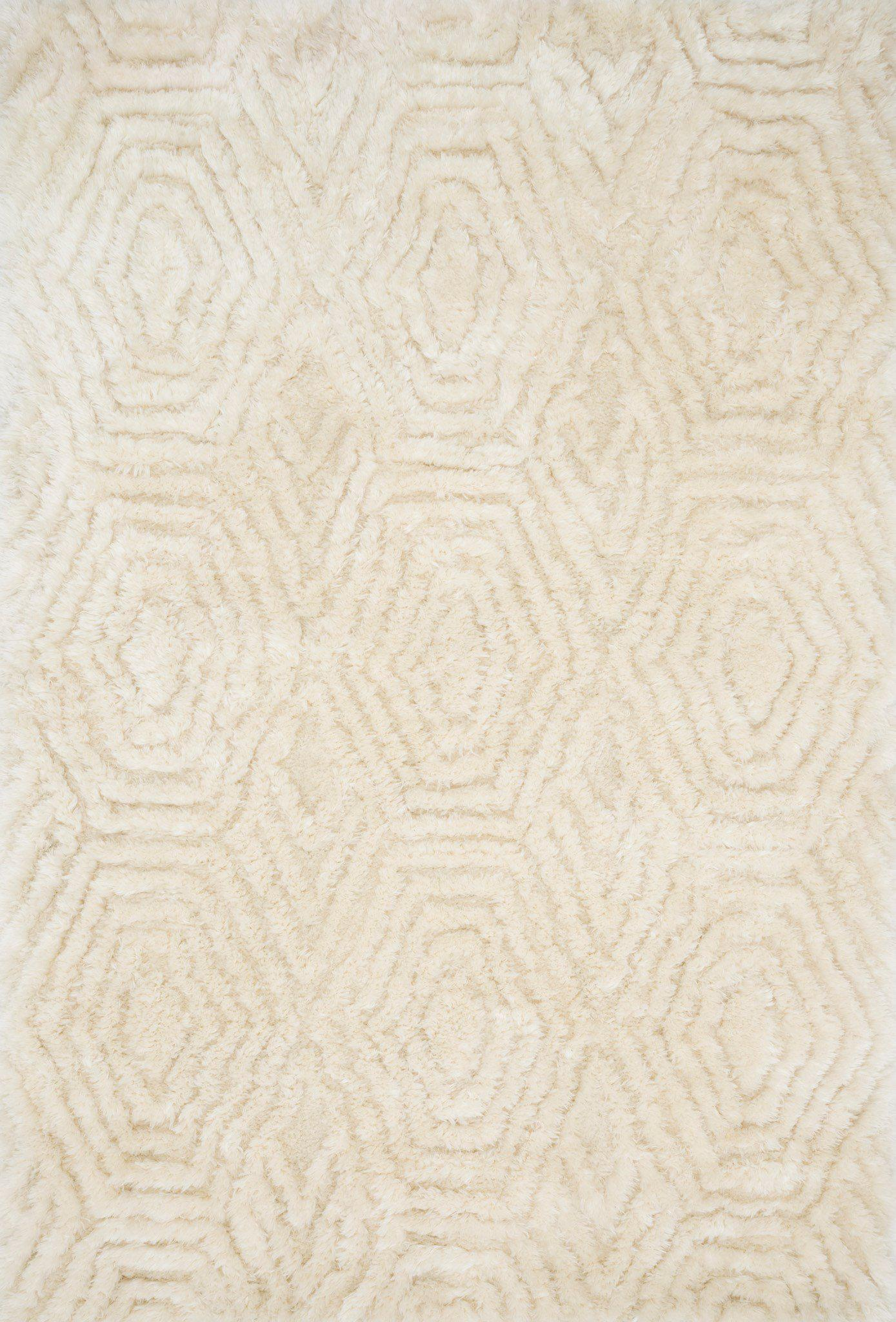 "Justina Blakeney Collection Caspia CAP-01 Ivory-Area Rug-Loloi-3'-6"" x 5'-6""-The Rug Truck"