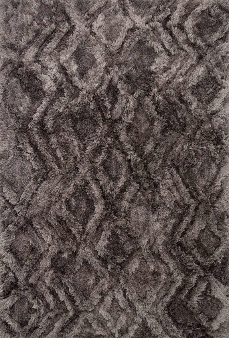 "Justina Blakeney Collection Caspia CAP-03 Charcoal-Area Rug-Loloi-3'-6"" x 5'-6""-The Rug Truck"