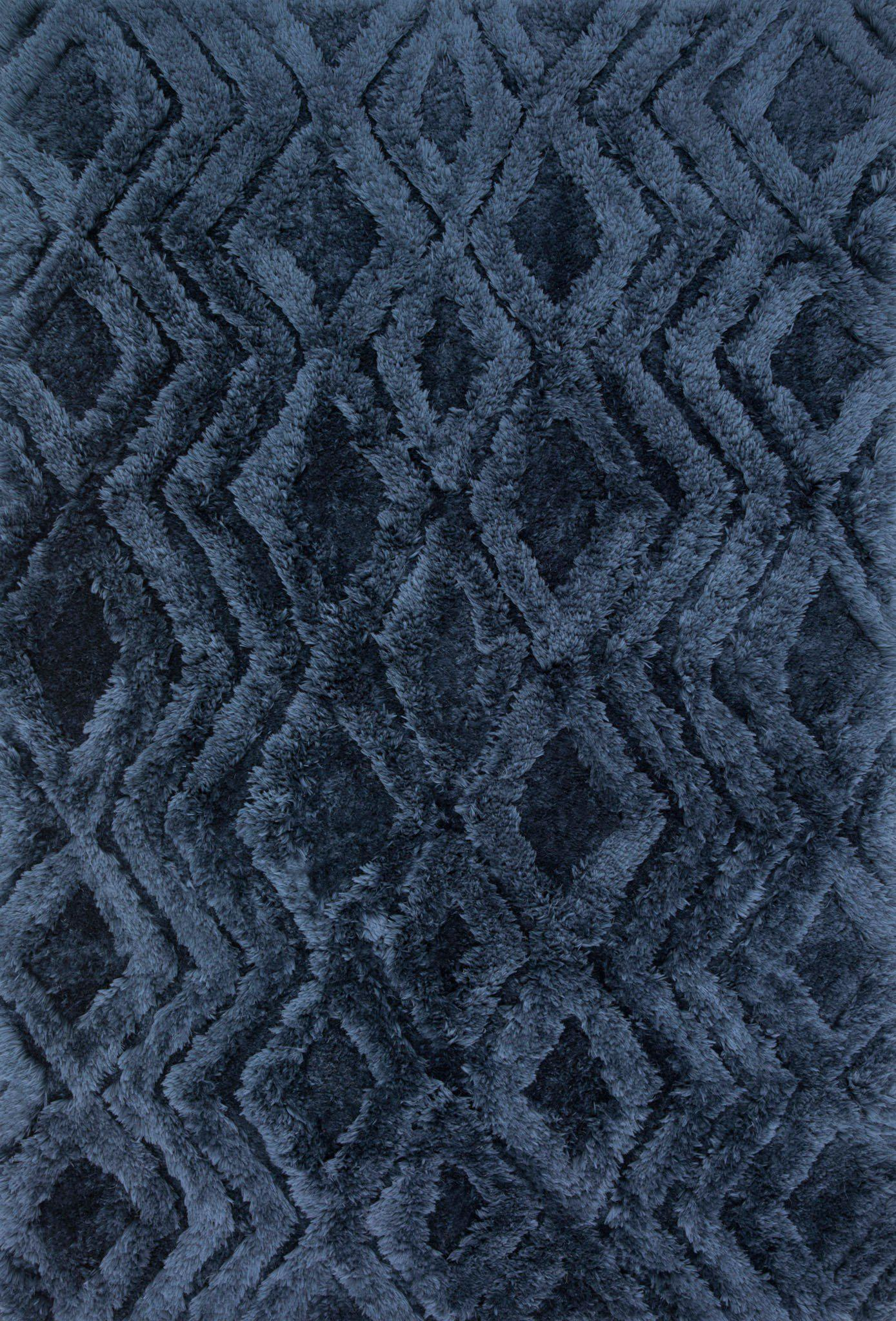 "Justina Blakeney Collection Caspia CAP-03 Indigo-Area Rug-Loloi-3'-6"" x 5'-6""-The Rug Truck"