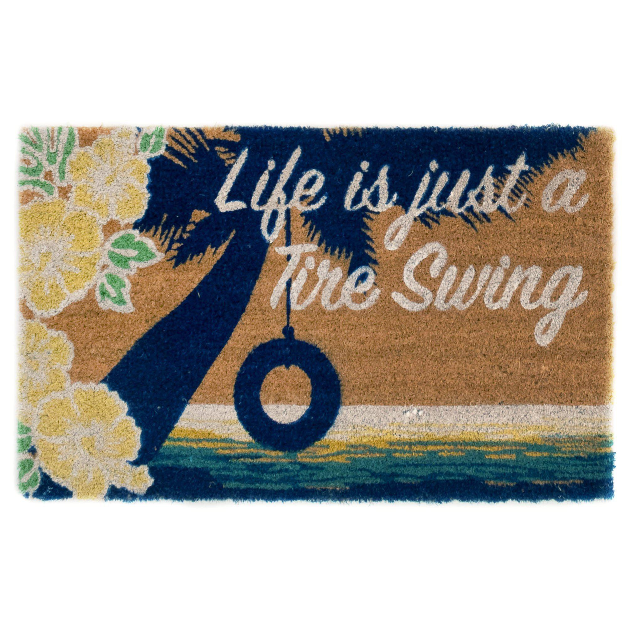 "Liora Manne Cabana Tire Swing Natural Mats-Area Rug-Trans-Ocean-18""X30""-The Rug Truck"