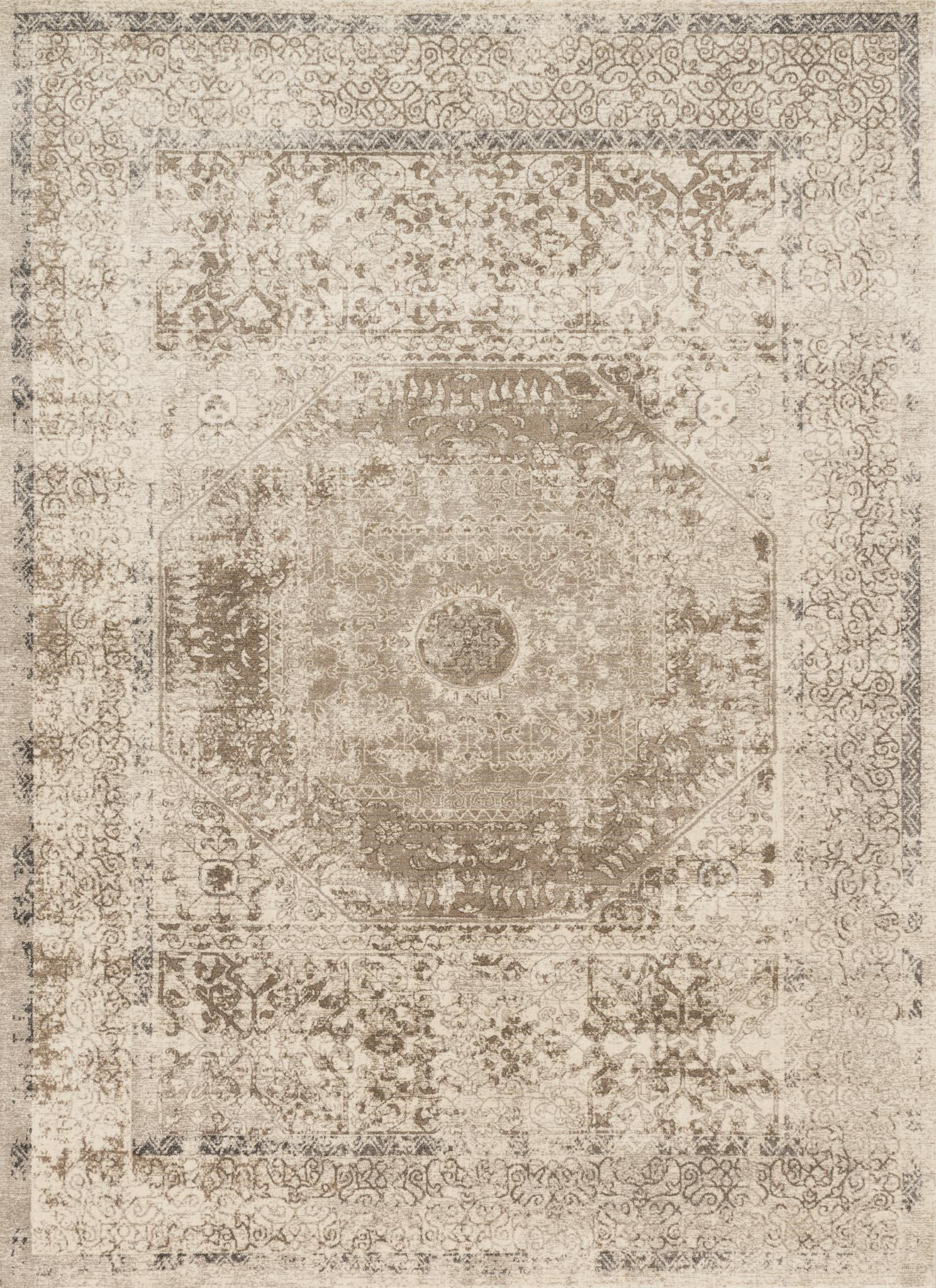 "Century CQ-01 Taupe / Sand-Area Rug-Loloi-2'-7"" X 4'-The Rug Truck"