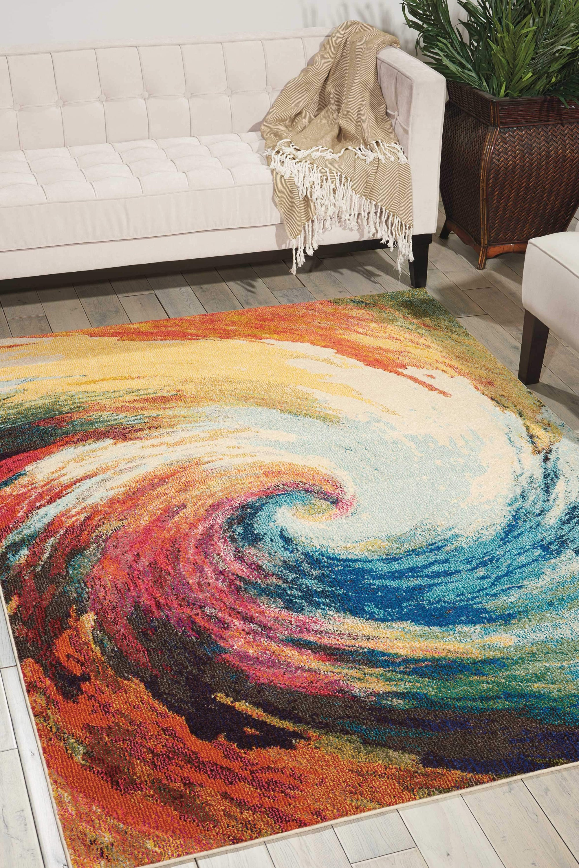 "Celestial CES07 Wave Area Rug-Area Rug-Nourison-3'11"" x 5'11""-The Rug Truck"