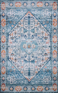 "Justina Blakeney Collection Cielo CIE-03 Ivory / Sunset-Area Rug-Loloi-2'-3"" x 4'-0""-The Rug Truck"
