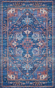 "Justina Blakeney Collection Cielo CIE-04 Blue / Multi-Area Rug-Loloi-2'-3"" x 4'-0""-The Rug Truck"