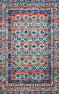 "Justina Blakeney Collection Cielo CIE-05 Terracotta / Multi-Area Rug-Loloi-2'-3"" x 4'-0""-The Rug Truck"