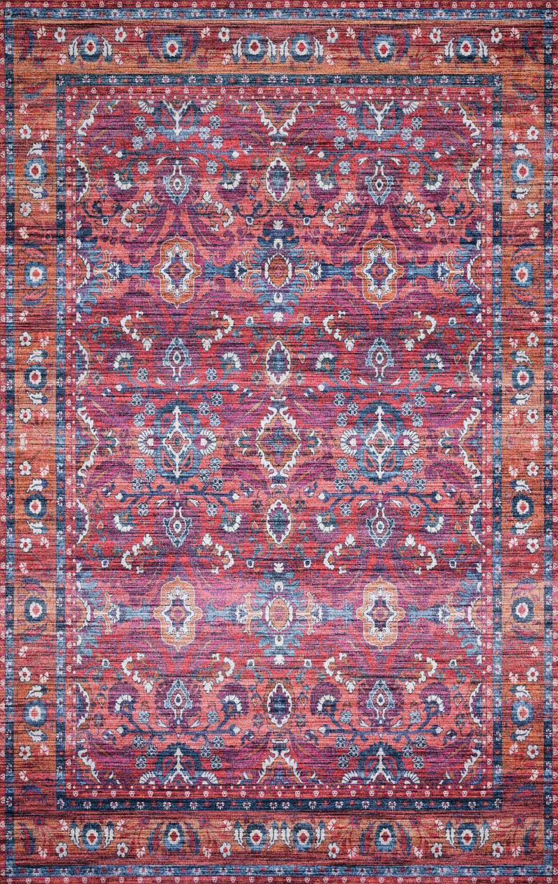 "Justina Blakeney Collection Cielo CIE-08 Berry / Tangerine-Area Rug-Loloi-2'-3"" x 4'-0""-The Rug Truck"