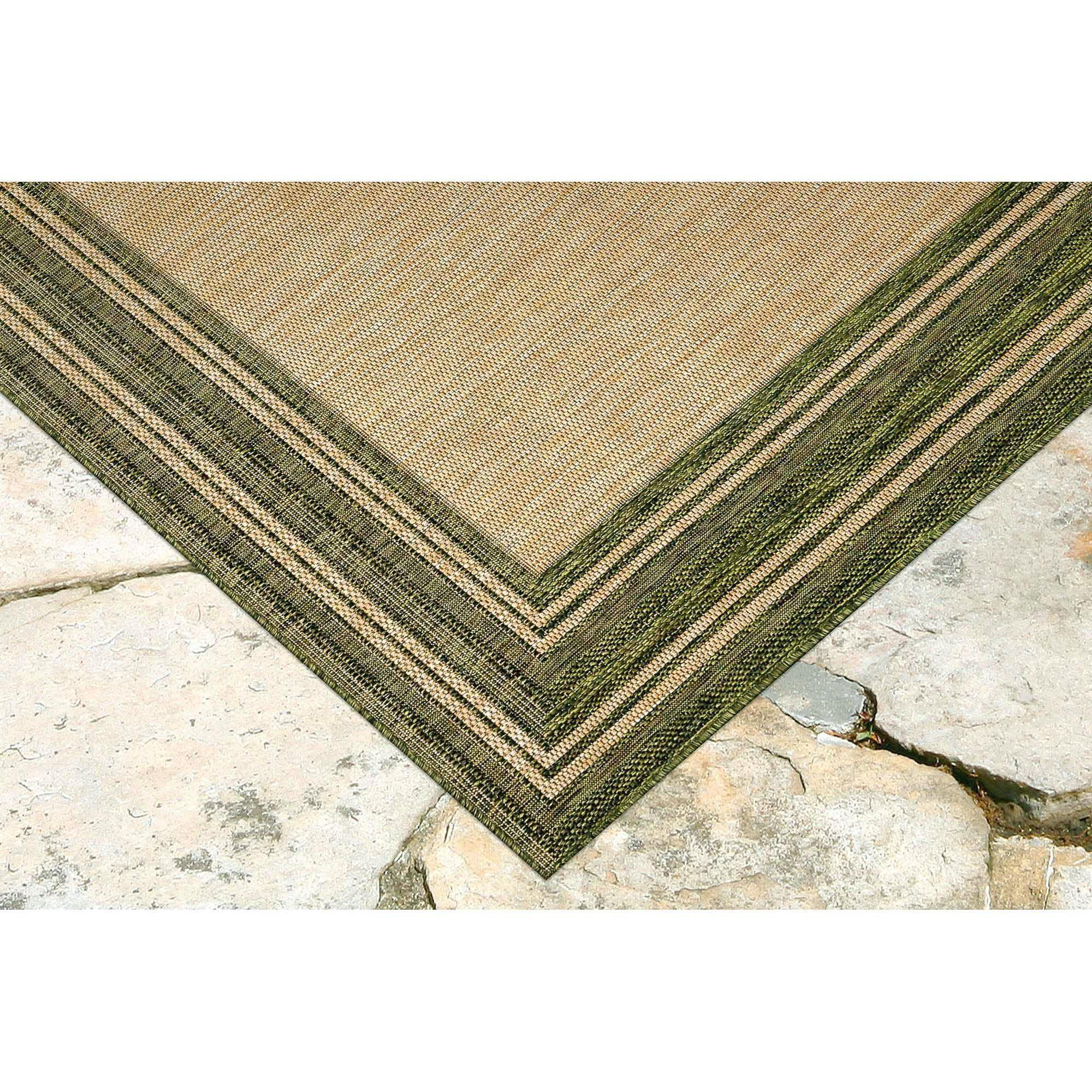 "Liora Manne Carmel Multi Border Green Everywear Rug-Area Rug-Trans-Ocean-39""X59""-The Rug Truck"