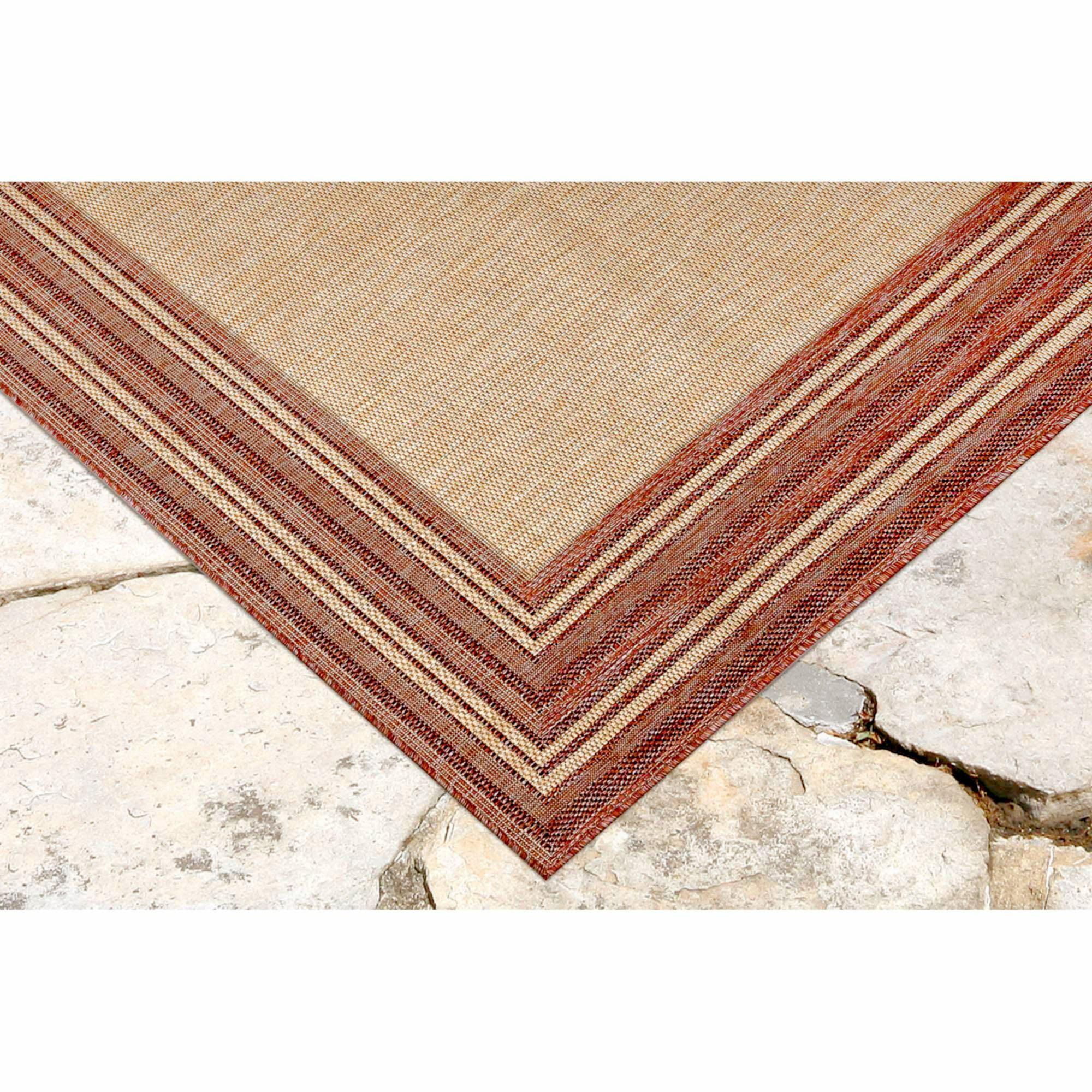 "Liora Manne Carmel Multi Border Red Everywear Rug-Area Rug-Trans-Ocean-39""X59""-The Rug Truck"