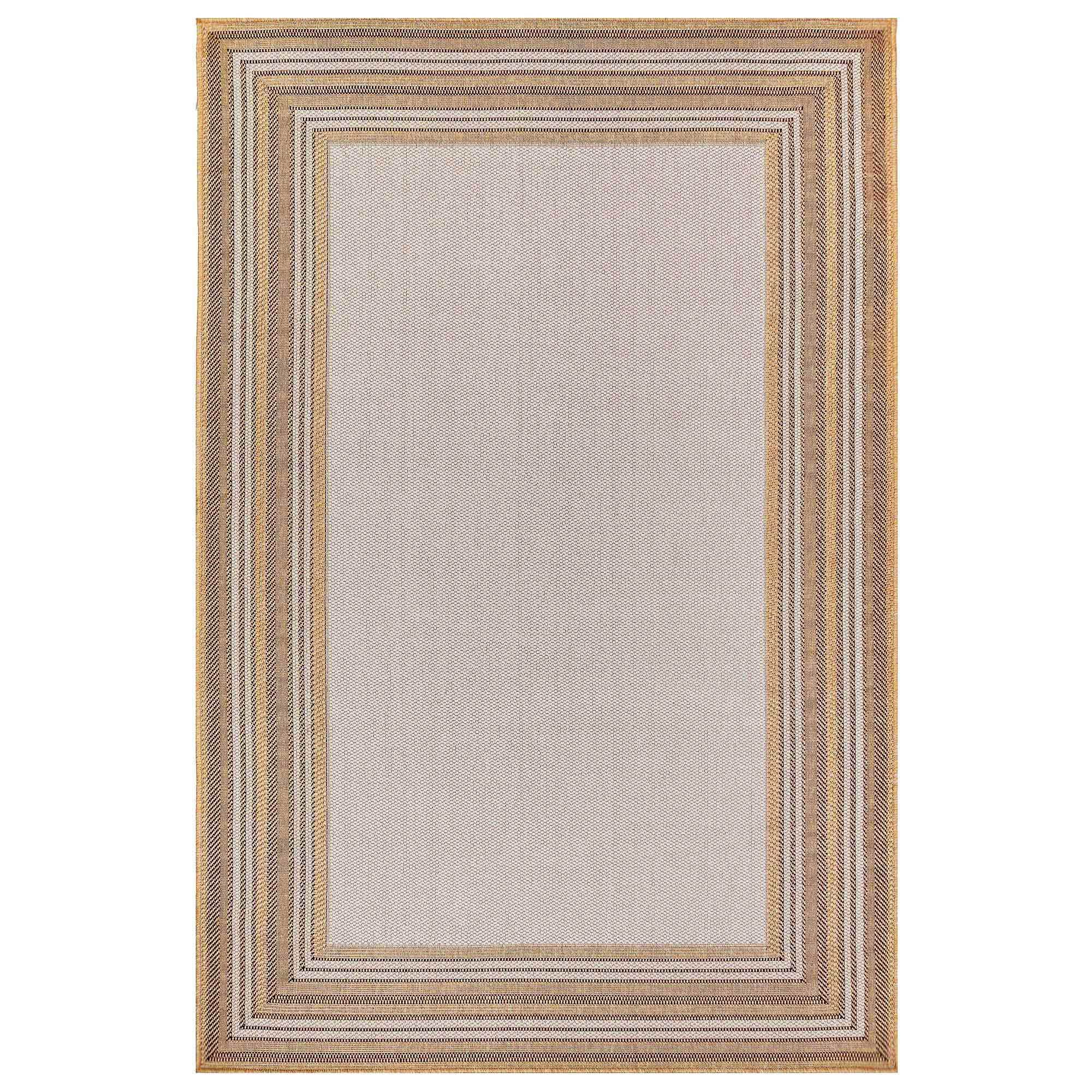 "Liora Manne Carmel Multi Border Natural Everywear Rug-Area Rug-Trans-Ocean-39""X59""-The Rug Truck"